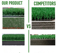 comparision of our golf mats and others'