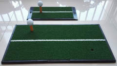 portable golf practice mats with white line