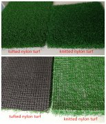 Knitted &tufted nylon turf