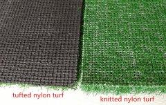 Difference between mats with knitted& tufted nylon turf