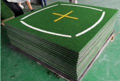 Teaching mats with knitted nylon turf