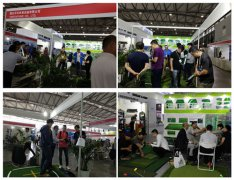 Kitted nylon turf golf mats at Shanghai PGA Golf Show