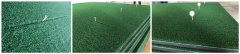 knitted nylon crimp golf mats with slits