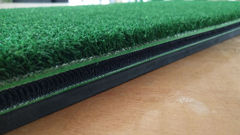 5x5 nylon turf 3D golf mat indoor&outdoor rubber practice hitting swing mat with fiber textile
