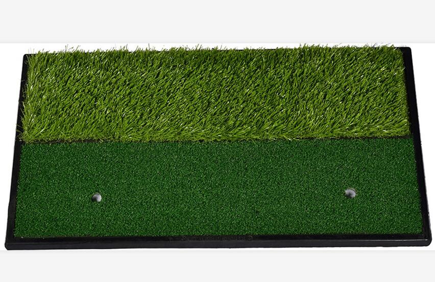 Golf Practice Mat for Driving Hitting Chipping Putting Realistic Fairway & Rough Turf with A60 He