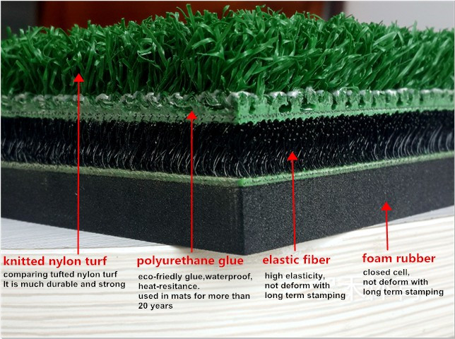 No strain, No shock, No injury 3D nylon golf mat